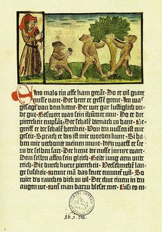 """""""Der Edelstein"""" es una serie de fábulas recopiladas por Ulrich Boner considerado el primer libro ilustrado impreso. Se trata de un incunable impreso en Alemania por Albrecht Pfister en 1461."""