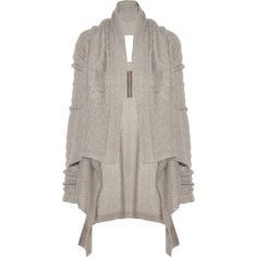 Rick Owens Draped mohair and silk-blend cardigan ($875) ❤ liked on Polyvore