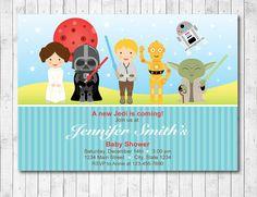 Star Wars Baby Shower Invitation Star wars Baby by funkymushrooms