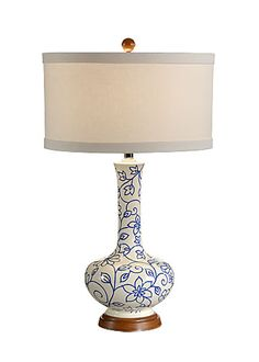 Simple Vine of Flowers Lamp  Wildwood Lamps - Tommy Bahama Collection