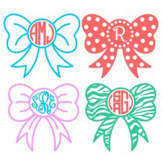 Bow Ribbon Monogram Svg Cuttable Frame Cut File. Vector, Clipart, Digital Scrapbooking Download, Available in JPEG, PDF, EPS, DXF and SVG. Works with Cricut, Design Space, Cuts A Lot, Make the Cut!, Inkscape, CorelDraw, Adobe Illustrator, Silhouette Cameo, Brother ScanNCut and other software.
