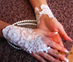 Lace gloves Bridal accessories Bridal gloves Wedding by newgloves, $39.00