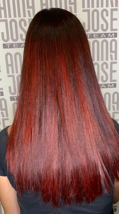 Ruby red Red Hair Color, Ruby Red, Long Hair Styles, Beauty, Long Hair Hairdos, Long Haircuts, Long Hair Cuts, Long Hairstyles, Long Hairstyle