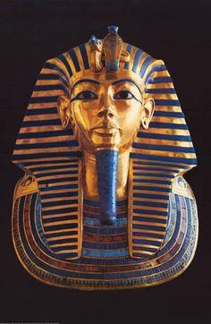 King Tut Tutankhamun Mummy Egyptian Art Poster 24x36
