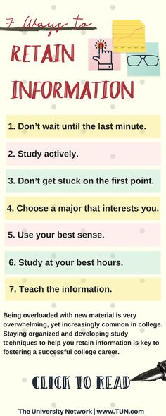 The best way to remedy the anxiety and stress caused by your classes is finding a proper way to retain information. Here are 7 tips to help you retain information.
