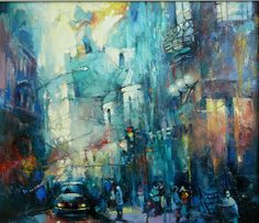 "Waclaw Sporski ""Time To Meetings"" 60x70 Oil On Canvas sporskiart.com"