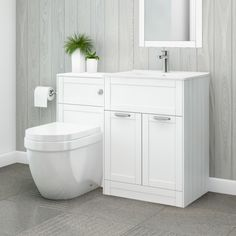 Nottingham 600 White Combination Unit with Aurora Back to Wall Toilet