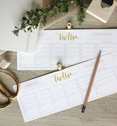 Free Printable Weekly To-Do List by Wilde House Paper at A Fabulous Fete