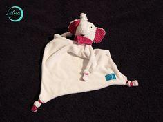 "Kuscheltuch ""Polo Elefant"" von Handmade by Lelua auf DaWanda.com"