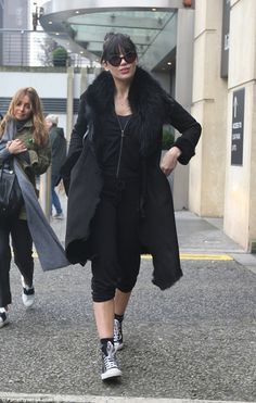 A vision:Daisy Lowe was sure to make heads turn as she stepped out in Birmingham following her first live show on Saturday