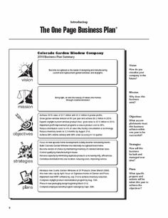 Examples of an executive summary executive summary template for a business plan template for every type of business one page business plan flashek Gallery