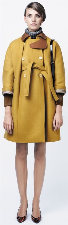 Georgeos cape-coat from Carven. Bold color and shape. Love it!