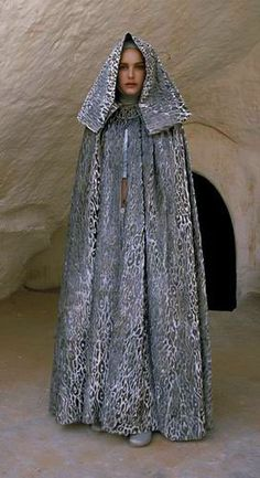Star Wars Padme Amidala Tatooine Dress with Cloak - Front view