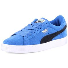 Puma Suede Junior Trainers - Blue/black - http://on-line-kaufen.de/puma/uk-03-puma-suede-unisex-kinder-sneakers