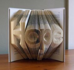 Brilliant Sculptures On Folded Book Art By Luciana Frigerio
