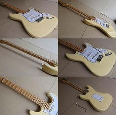 [Visit to Buy] Cheap guitar cream Yngwie Malmsteen Scalloped maple fretboard Big Head ST 6 string electric guitarra in stock 120510 #Advertisement