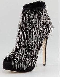 Brian-Atwood-Twinkle-Chain-Suede-Boots-Size-40-Orig-2578