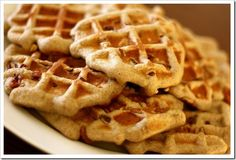 Paleo Banana Nut Waffles~ these have zero dairy, and they're grain-free, gluten-free, and delicious Paleo Banana Waffles, Gluten Free Waffles, Banana Nut, Healthy Waffles, Waffle Iron Recipes, Almond Recipes, Dairy Free Recipes, Paleo Recipes, Healthy Recipes