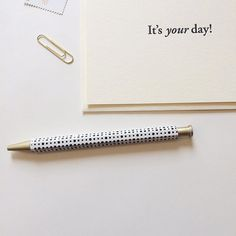 It's your day! Embrace it with open arms. Make it yours. Share it with someone in person or in writing. | www.ofnotestationers.com
