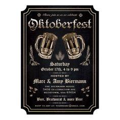 Supreme Vintage Oktoberfest Invitations v.3