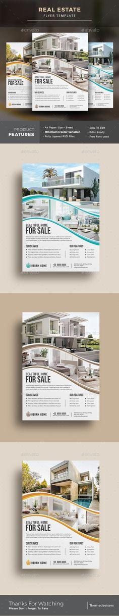 #Real #Estate #Flyer - Commerce Flyers Download here: https://graphicriver.net/item/real-estate-flyer/20180461?ref=alena994 #homebusinessagency,