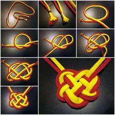 DIY Celtic knot necklace tutorial, instruction. Follow us: http://on.fb.me/1rWIbQo