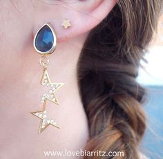 Constellation earrings @lovebiarritz