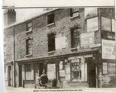 Hockley Street/Smith Street corner,Birmingham,early 1950s Birmingham Uk, Old Street, Yesterday And Today, Old Photos, Past, 1950s, Corner, History, City