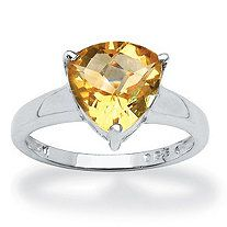 1.60 CT Citrine Ring in Sterling Silver