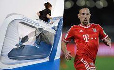 Ribery se recupera de una lesión con una máquina de la NASA - El centrocampista francés Franck Ribery, lesionado desde hace 7 meses, podría volver a jugar pronto con el Bayern Múnich gracias a una cinta de cor...