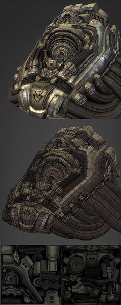 The Art of Brian Trochim - Environment Artist - Sci-Fi/Futuristic Works Hard Surface Modeling, Zbrush Tutorial, Sci Fi Environment, 3d Figures, Low Poly Models, 3d Artwork, Mechanical Design, Art And Technology, Environmental Art