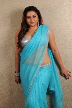 Tamil Actress Namitha Blue Saree Photos