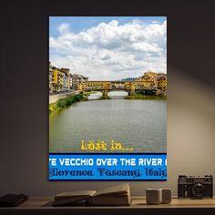 Metal Poster Lost In Ponte Vecchio