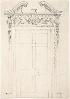 Anonymous, British, 19th century | Design for a Doorway | The Metropolitan Museum of Art