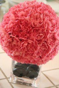 Wedding, Pomanders, Carnations, Kissing, Balls