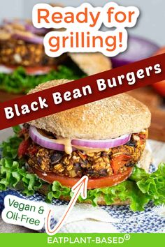This vegan Black Bean Burger from EatPlant-Based is packed with protein and fiber and is terrific partnered with the low-fat Chipotle Ranch Sauce (included in this recipe)! These Black Bean Burgers are perfect for grilling! Try this recipe at your next BBQ! Plant Based Whole Foods, Plant Based Diet, Vegan Grilling, Grilling Recipes, Vegan Blogs, Vegan Recipes, Potato Chip Maker, Portobello Mushroom Burger, Whole Food Recipes