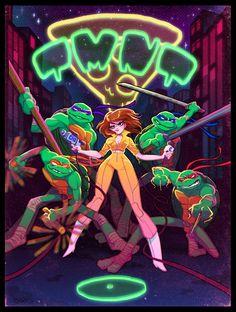 Teenage Mutant Ninja Turtles and April O'Neil by Babs Tarr *