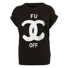 OFF CHANEL TEE ($31) ❤ liked on Polyvore