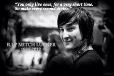 rest in peace, you beautiful angel. I Miss You More, I Love You All, My Love, Mitch Lucker, Good Music, My Music, Music Hits, Strange Music, Asking Alexandria