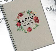 Rosh Hashana Notebook Shana Tova Time to Start by LooveMyArt