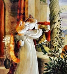 Cat Art...=^.^=...♥ ...By Artist Susan Herbert...
