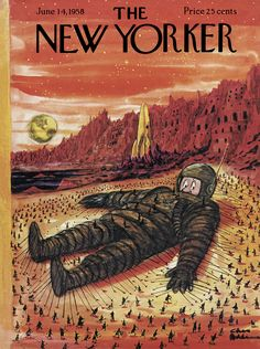 The New Yorker - Saturday, June 14, 1958 - Issue # 1739 - Vol. 34 - N° 17 - Cover by : Charles Addams The New Yorker, New Yorker Covers, Capas New Yorker, Addams Family Cartoon, Missed In History, Charles Addams, Aliens Funny, New Yorker Cartoons, History Class