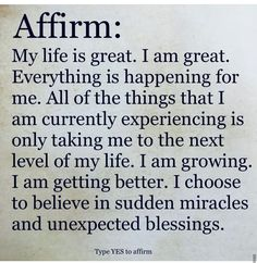 Daily Affirmations : Positive affirmations - Inspirational quotes - Welcome to our website, We hope you are satisfied with the content we offer. Morning Affirmations, Love Affirmations, Law Of Attraction Affirmations, Law Of Attraction Quotes, Positive Quotes, Motivational Quotes, Inspirational Quotes, Positive Vibes, Faith Quotes