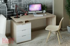Computer desk Rouen - buy in online m .- Компьютерный стол Руан – купить в интернет-м… Rouen computer desk – buy in the Hoff online store. Office Table, Home Office Desks, Office Decor, Table Pc, Diy Table, Computer Desk Design, Bookshelf Desk, Buy Desk, Tv Wall Decor