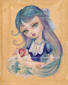 Empty My Heart Of Thee LIMITED EDITION print by SimonaCandiniArt, $30.00