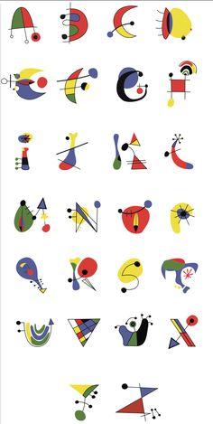 Letters to decorate 2 - - Miro Paintings, Alphabet Art, Middle School Art, Joan Miro, Art Plastique, Collage Art, Art Lessons, Hand Lettering, Art For Kids