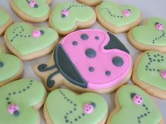 Mama & Baby Ladybug Cookies - Cute baby shower favors!