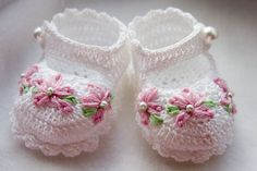 Crocheted Baby Booties:  I swear this is a lost art.  Soon as I found out I was preggo with a girl, I made myself learn this fine art.  I crocheted her baptismal gown and so many other fun things.  I prefer size 10 thread or higher for anything decorative or clothing related.  I was crocheting some booties in the hospital the other day and so many people were awed at what I was doing.  A travesty I tell you!