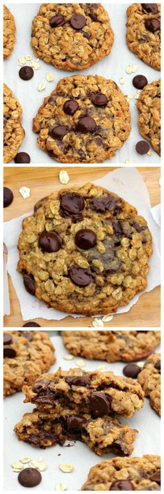 BFF Dark Chocolate Chip Oatmeal Cookies via @https://www.pinterest.com/BaknChocolaTess/