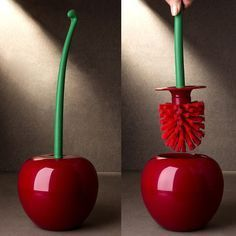 Cherry Toilet Brush is sure to brighten up your bathroom. Cleaning a loo is not the best of tasks in the world but this will at least make it bearable.